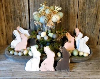 Rabbit Bowl Fillers, Easter Decor, Bunny Bowl Fillers, Wood Rabbit, Wood Bunny, Easter Bunny,  Single (1) or Set