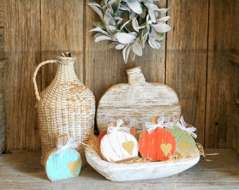 5 - 7 business day wait before shipping. Mini Wood Pumpkin, Rustic Pumpkin Decor, Tiered Tray Pumpkin, Porch Decor, Fall Table Top Decor