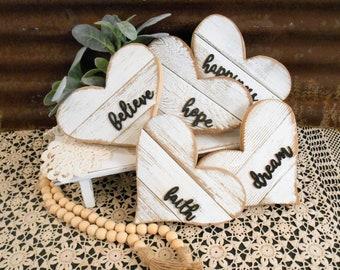 Rustic Farmhouse Small Wood Heart, Rustic Heart, Farmhouse Decor, Reclaimed Wood Heart, ,Wall Heart, Heart Sign, Rustic Home Decor
