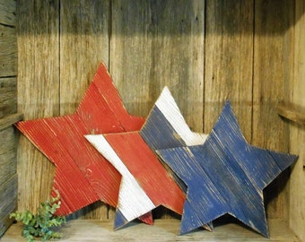 Hanging Wooden Stars,  Porch Decor, Independence Day Decor, July 4th, Patriotic Decor, Wood Star, Americana