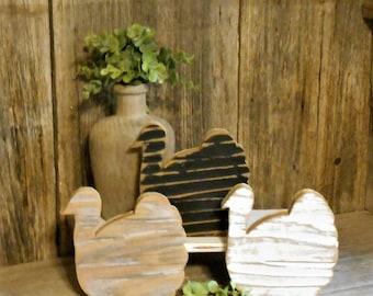 Rustic Wood Turkey, Turkey Tray Decor, Rustic Fall Turkey, Table Top Turkey, Fall Farmhouse Decor