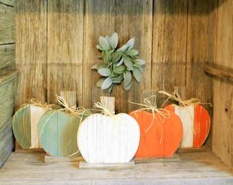 Small Rustic Wood Pumpkin, Rustic Fall Decor, Farmhouse Pumpkin, Fall Holiday Decor, Pallet Pumpkin