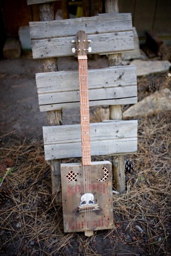 guitars blues box guitar cigar box guitar electric guitar etsy. Black Bedroom Furniture Sets. Home Design Ideas