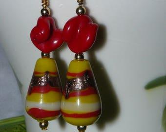 Tequila Sunrise Dangle Earrings