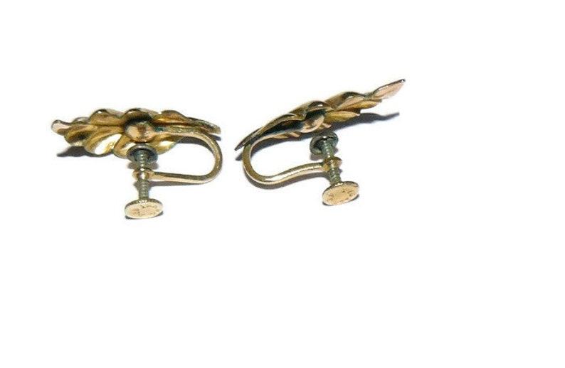 ON SALE Gold Filled Screw Back Earrings
