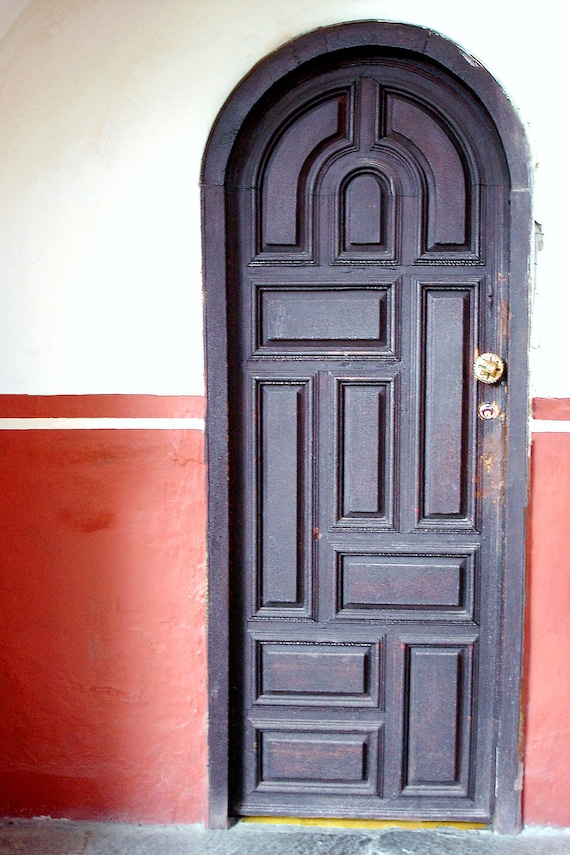 "Black Door - Mexico (5"" x 7"" photographic greeting card - blank inside/with envelope)"