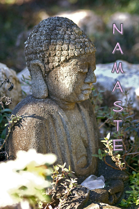"Zen Series - Buddha - Namaste (5"" x 7"" photographic greeting card - blank inside/with envelope)"