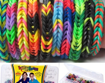 BANDALOOM Rubberband Bracelet Kit -- includes 1000 bands!  Ages 7 and up.
