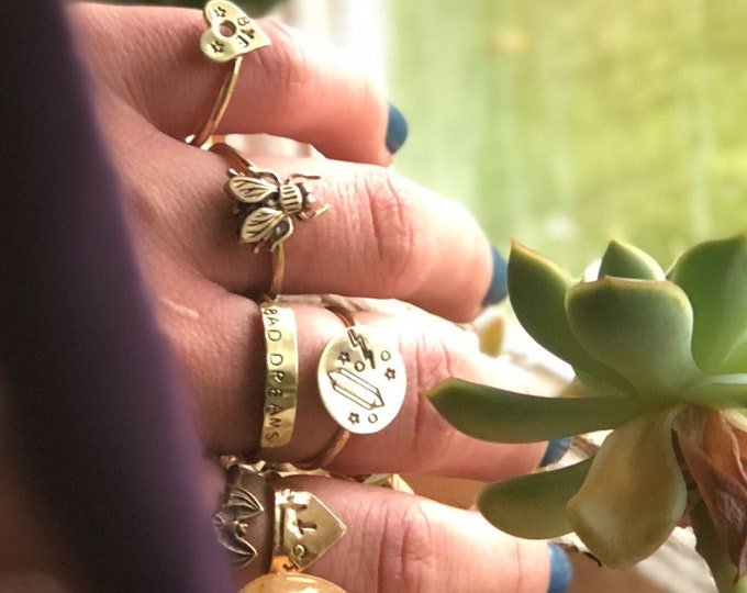 Book of Shadows Ring Set of 6