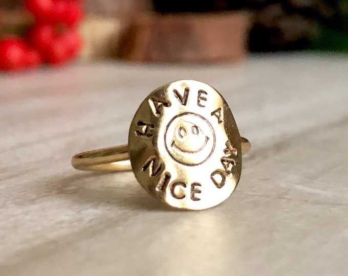 90's Grunge Smiley Face Ring