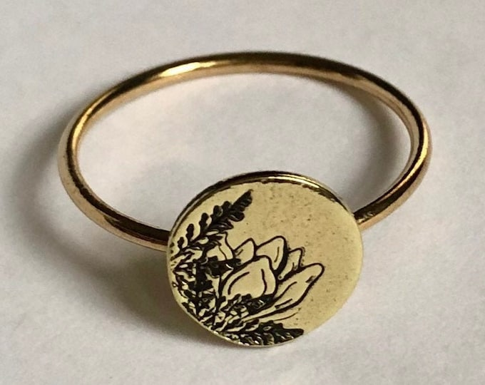 Southern Magnolia Ring