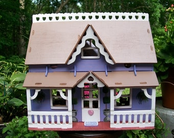 Sweetheart Dollhouse, Hand Painted/Constructed