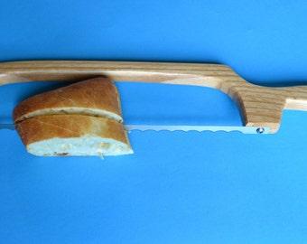 Handmade Oak  Bread Knife