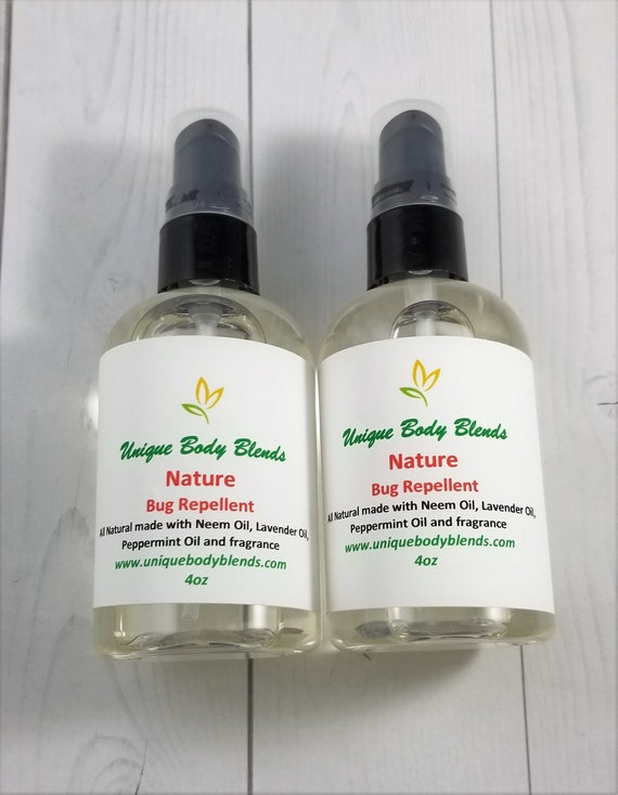 Natural Bug Spray Peppermint And Lavender Oil Insect Etsy