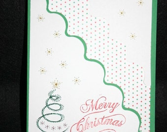 Unique Handmade embroidered Christmas card