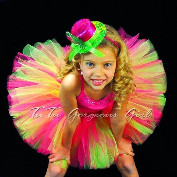 hot pink and lime green birthday tutu   girl u0026 39 s dance tutu