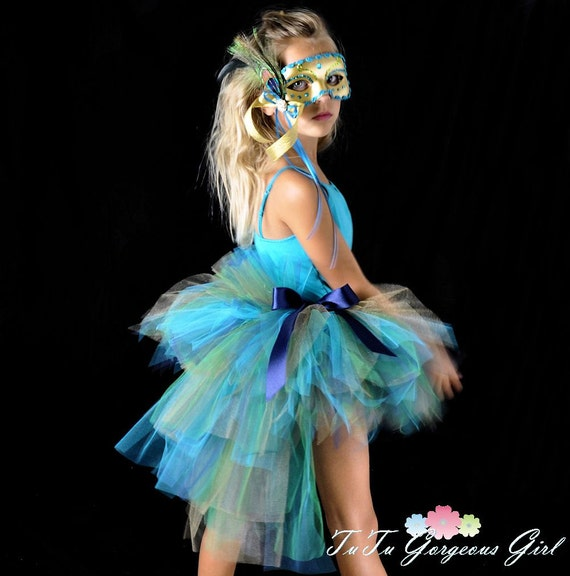 Peacock Feather Bustle Tutu...Halloween Peacock Costume Tutu...Listing is for the bustle TUTU ONLY...Girls sizes 56 to Teen 1416