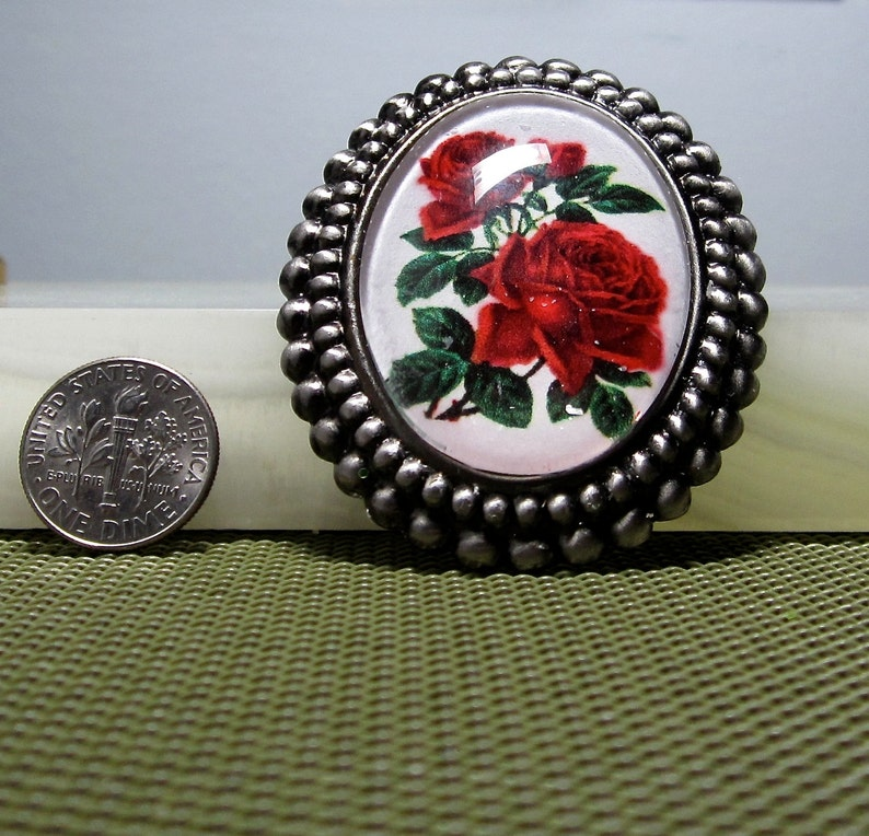 Red Roses BroochPendant