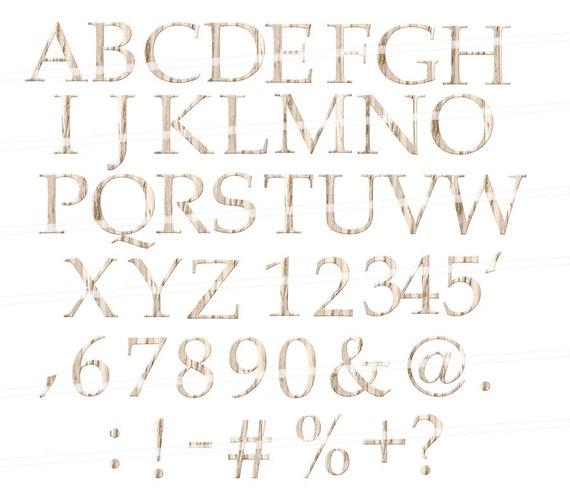 Alphabet Clipart Wood Alphabet Wood Digital Alphabet Letters Etsy