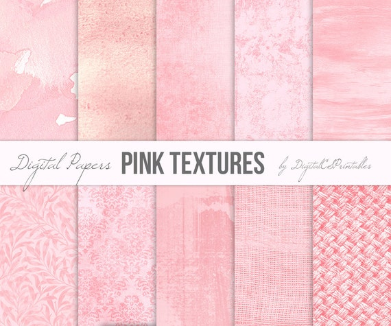 pink digital papers textured digital paper pink backgrounds etsy