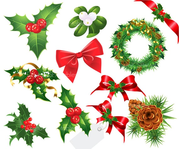 Christmas Clipart Holly.Christmas Clipart Christmas Clip Art Holiday Clipart Holly Berry Clipart Red Green Christmas