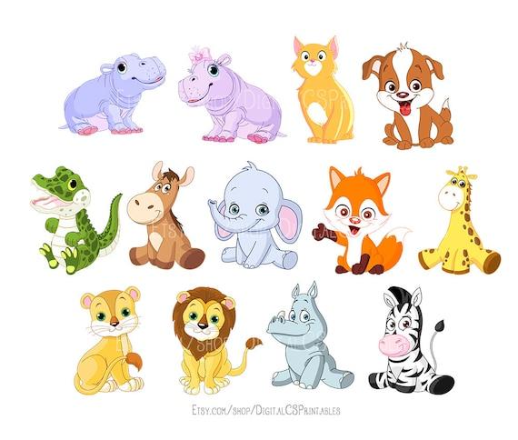 Cute Animal Clipart Kids Clipart Cute Clipart Safari