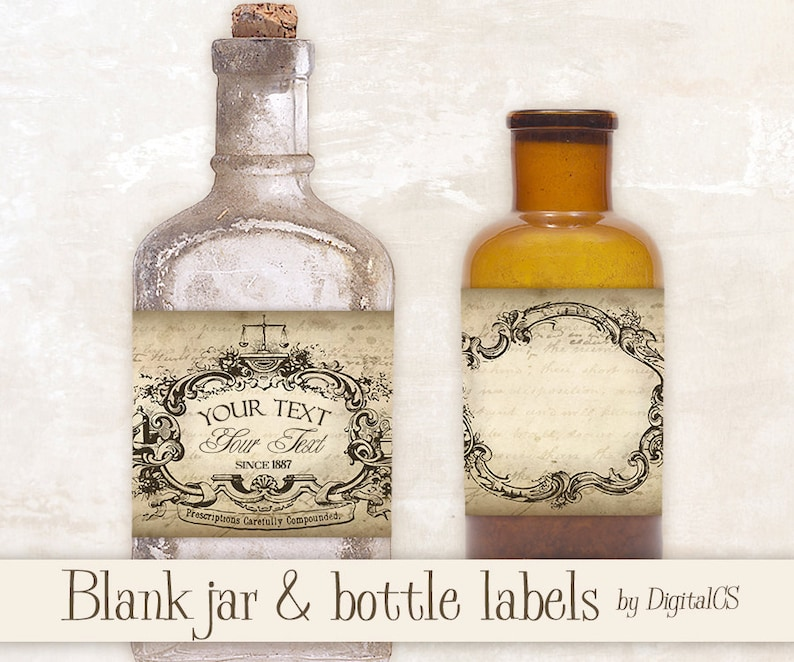 9189c8931 Printable Jar labels Apothecary labels for jars Vintage labels