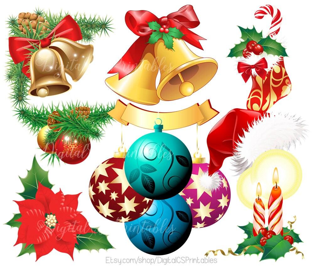 Weihnachten Clipart Weihnachtsstern ClipArts Weihnachten | Etsy