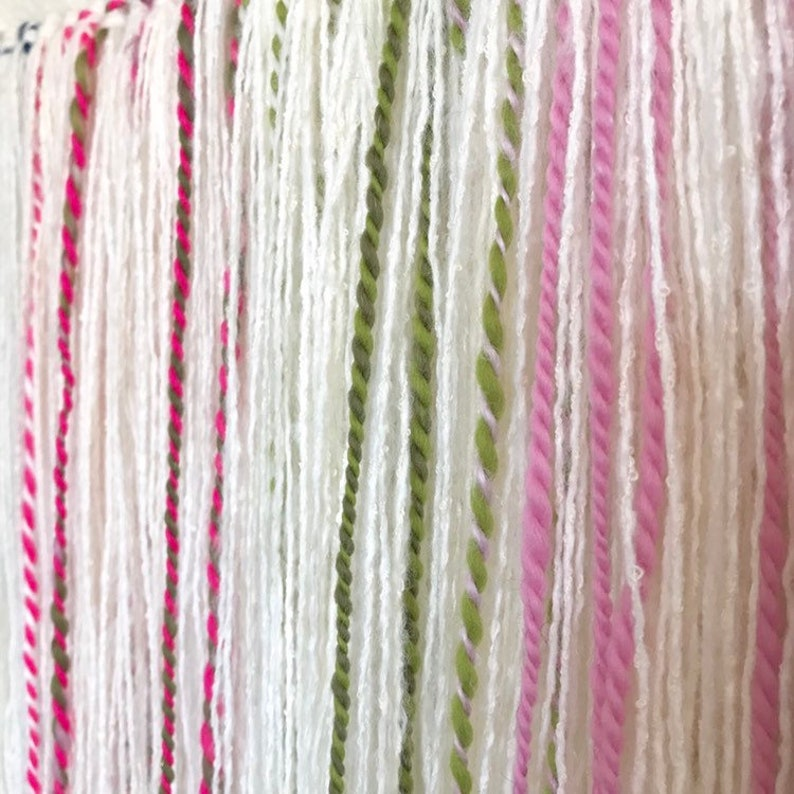 Salt Water Taffy Textile Wall Decor Colorful Hand Spun Wool and White  Decorative Tapestry Candy Colored Woven Wall Hanging
