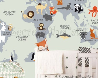 Nursery wall decal wall decal nursery world map decal nursery wall decal wall decal nursery world map decal map decal children gumiabroncs Image collections