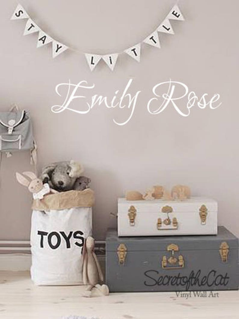 wall decals nursery Name and Initial wall decal Personalized name decal Children name decal Children name Nursery decor