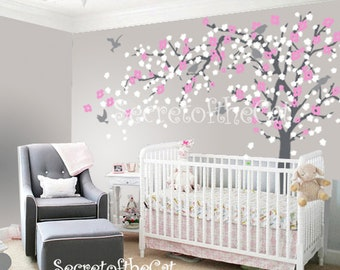 Nursery Wall Decal - Wall Decal Nursery - Blossom Tree Decal - Baby Tree Wall Decals - Wall Decals Nursery - Cherry Blossom Tree Decal