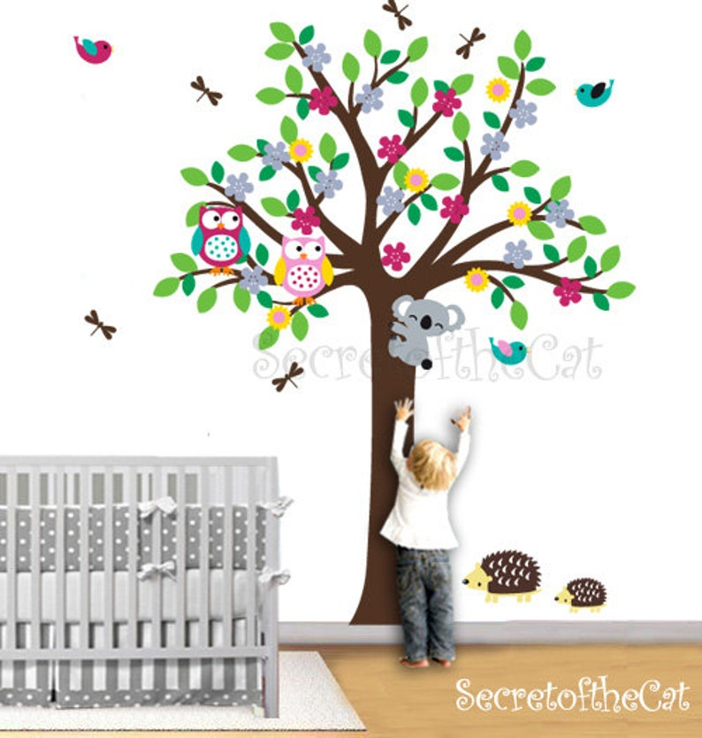 Wand Aufkleber Kinderzimmer. Kinderzimmer Wandtattoo. Baum und | Etsy