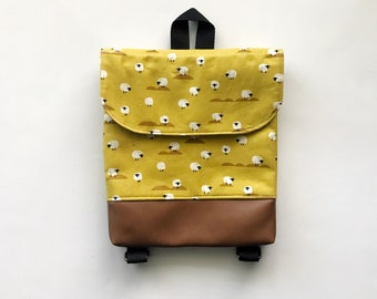 7a9ffd21af Mustard Sheep Tiny Pack - Small Backpack - Toddler Backpack - Tiny Backpack  - Toddler Bag - Backpack