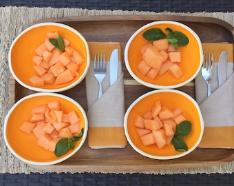 Cantaloupe Bowls Set of 4