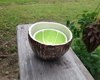 Lime & Coconut Bowl pair