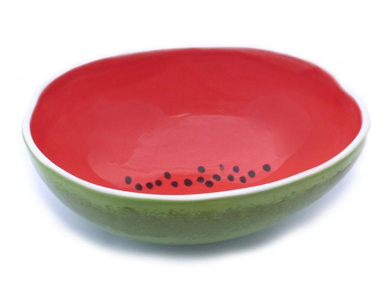 Large Watermelon Serving Bowl image 0