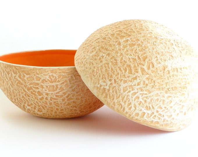 Cantaloupe Bowl Etsy In this video we share how to cut cantaloupe into wedges with and without the rind. usd