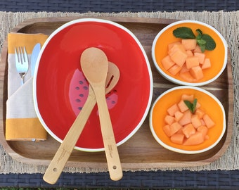 Melon Serving Set for 2