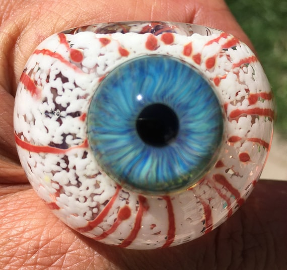 Eyeball Pipe Bloody Color Changing Blue Heavy Inside Out Etsy