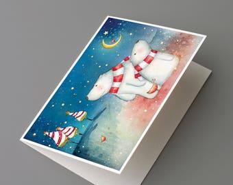 Polar bears – Christmas greeting card