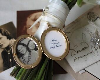 Wedding Bouquet Locket - Remembrance Locket - Personalised Locket - Wedding Keepsake