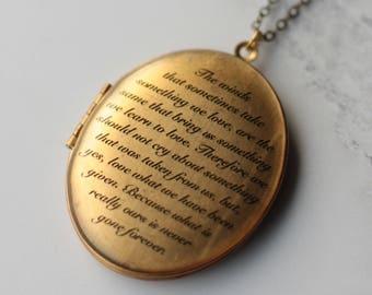 Personalised Locket - Personalised Remembrance Locket - Locket Necklace