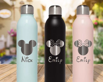 Disney Gym Bottle Disney Gifts Disney Bottle Park Day Bottle Disney Stainless Steel Water Bottle