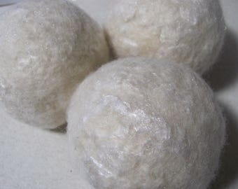 The Whites Wool Dryer Balls Set of 3