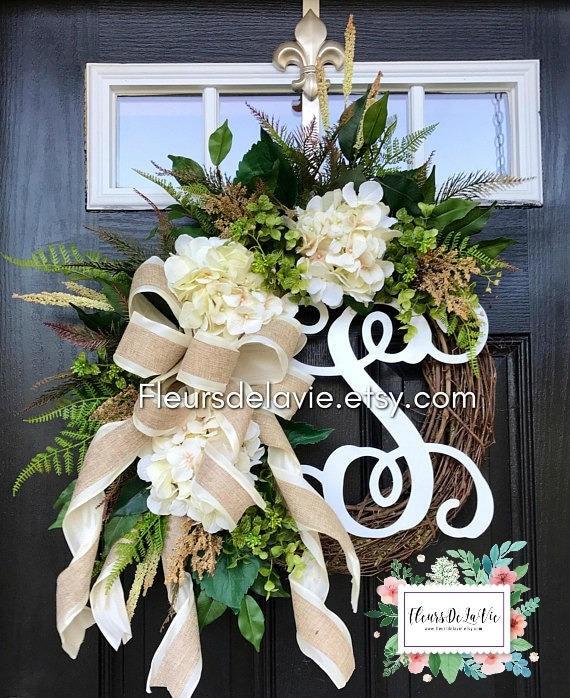 BEST SELLER Farmhouse Wreaths Front Door Wreaths Spring | Etsy