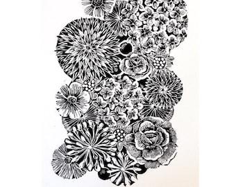 Florabunda Lino Cut Print