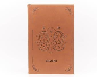 Gemini / Leather Journal