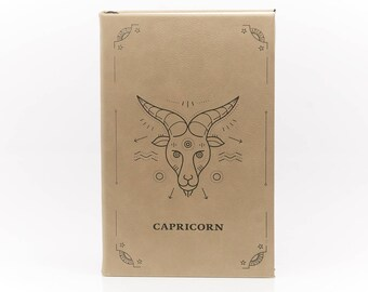 Capricorn / Leather Journal