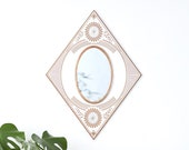 Bohemian Floral Mirror / Copper + Maple Wood